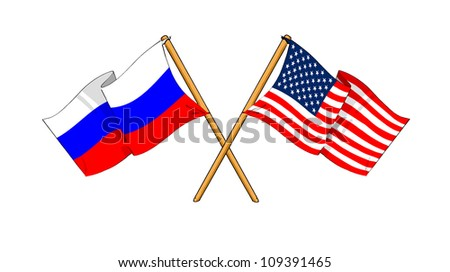 America and Russia alliance and friendship