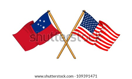 America and Samoa alliance and friendship