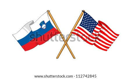 America and Slovenia alliance and friendship