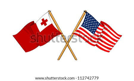 America and Tonga alliance and friendship