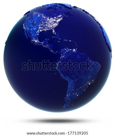 America continent and countries. Elements of this image furnished by NASA - stock photo