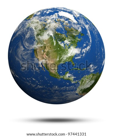America. Earth globe model. Elements of this image furnished by NASA - stock photo