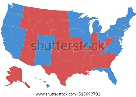 Vector Clip Art Map Usa All Stock Vector Shutterstock - Map of us clip art