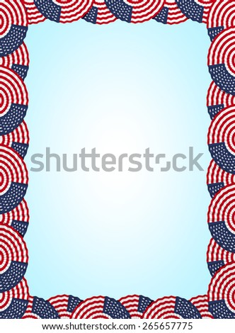 America fan folding ribbon background - stock photo