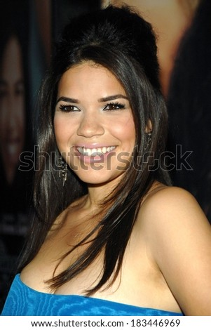 America Ferrera at Premiere of Sisterhood of the Traveling Pants 2, The Ziegfeld Theatre, New York, NY, July 28, 2008 - stock photo