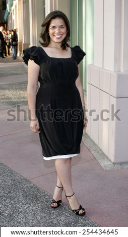 "America Ferrera attends the Academy of Television Arts & Sciences Presentation An Evening with ""Ugly Betty"" held at the Leonard H. Goldenson Theatre in North Hollywood, California on April 30, 2007.  - stock photo"
