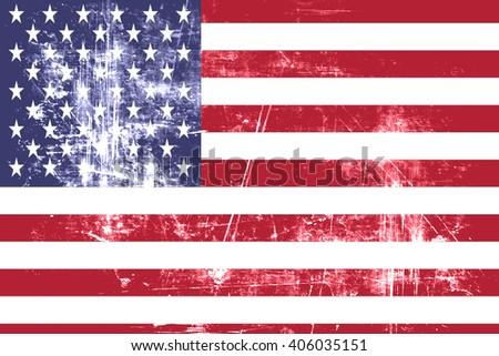 America flag - stock photo