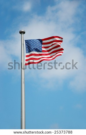 America Flag in July Four holiday