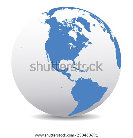 America Global World - Raster Version - stock photo