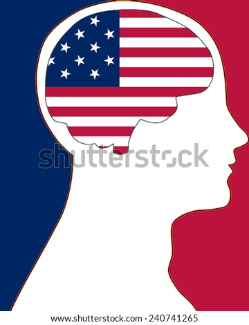 America in my mind - stock photo