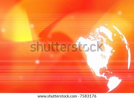 America map technology-style - stock photo