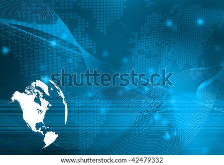 America map technology-style artwork - stock photo
