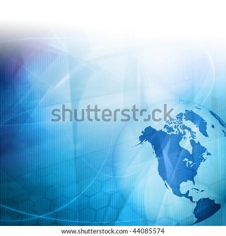 America map technology-style artwork - stock photo