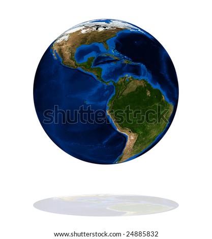 America on the Earth planet. Data source: Nasa - stock photo