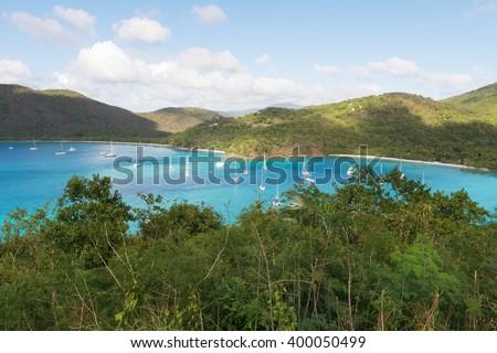 America Point and Maho Bay, St. John, U.S. Virgin Islands - stock photo