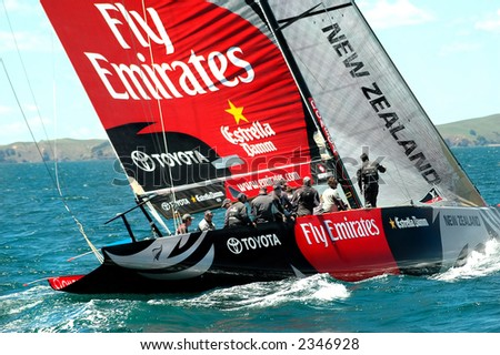 America's Cup Racing - stock photo