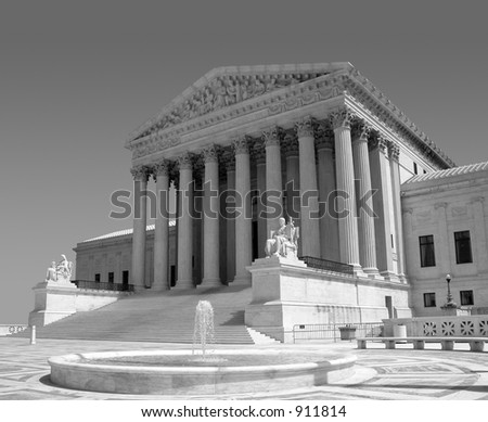 America's Supreme Court - D.C. - stock photo