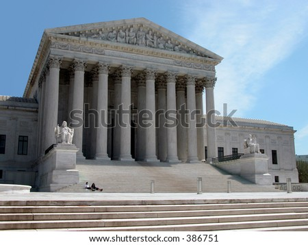 America's Supreme Court, Washington D.C. - stock photo