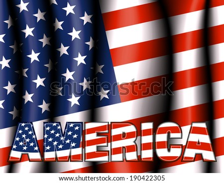 AMERICA Stars & Stripes Background - Raster Version