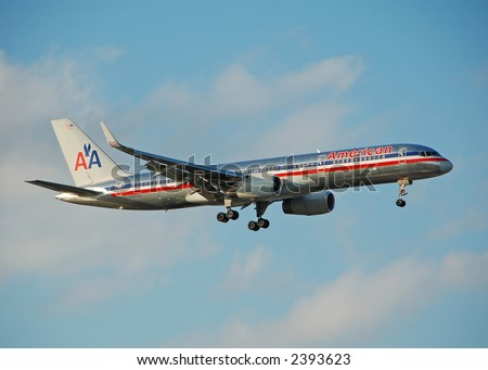 American Airlines Boeing 757 passenger jet - stock photo