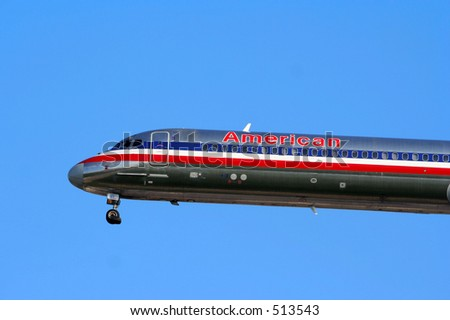 American Airlines MD80 - stock photo