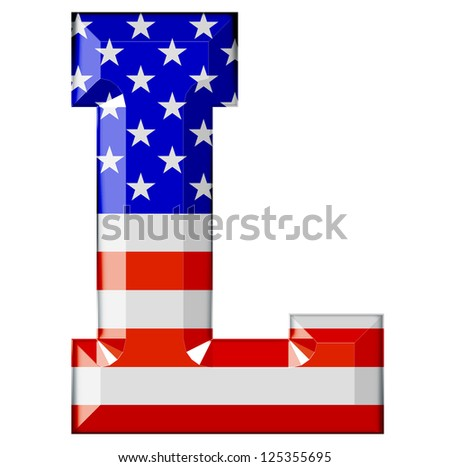 AMERICAN ALPHABET - stock photo