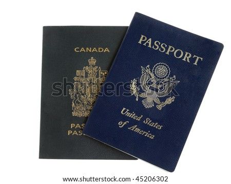American and Canadian Passport Overlapping