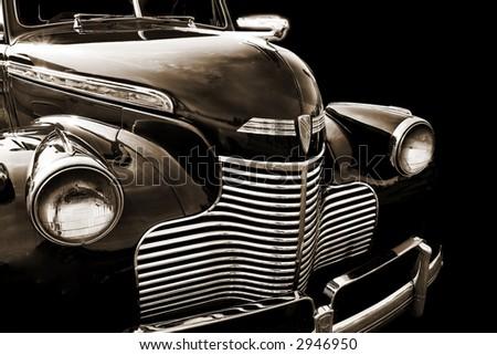 American Automotive Ingenuity at its finest with this classic and curvy 1930's era Car - stock photo