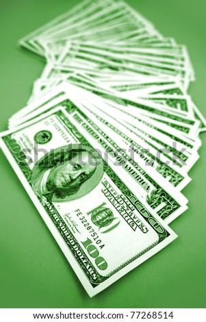 American banknotes - stock photo