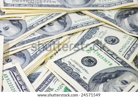 American $100 banknotes background