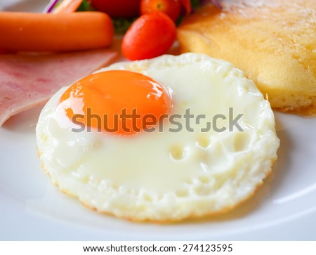 American breakfast - stock photo