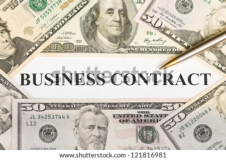 American business contract - stock photo