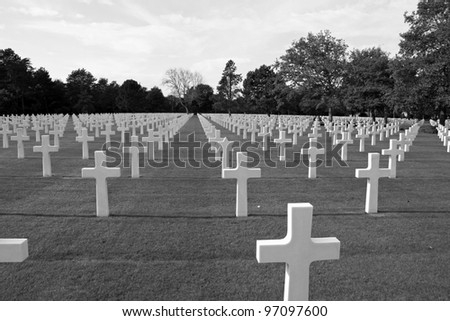 American Cemetery in Normandy, France - stock photo