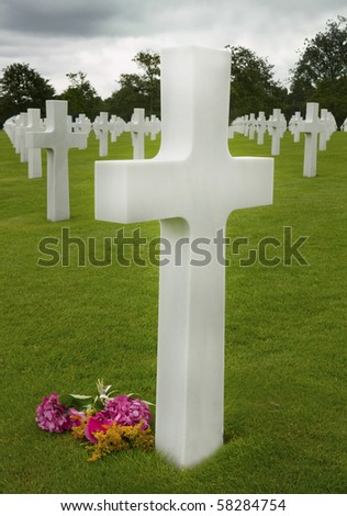 American cemetery in Omaha Beach, Normandy