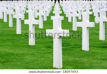 American cemetery. Normandy, France - stock photo