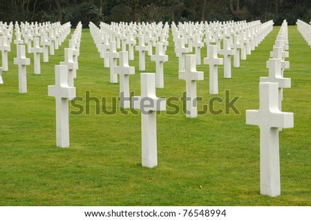 American cemetery of  Colleville sur Mer in Normandy