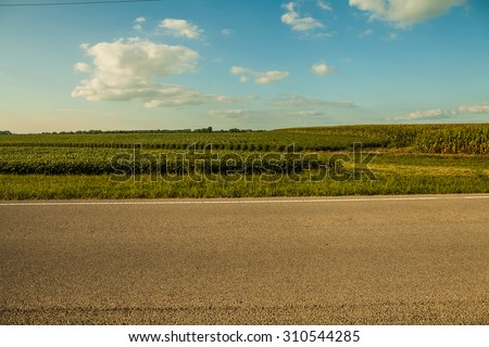 American Country Road - stock photo
