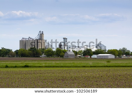 American Countryside Landscape - stock photo