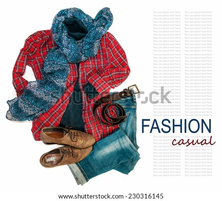 American Cowgirl style costume still life background - stock photo