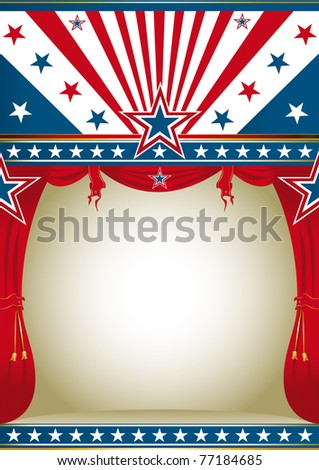 American culture. A background for your advertising. - stock photo