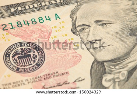 American Currency, American Dollars. - stock photo