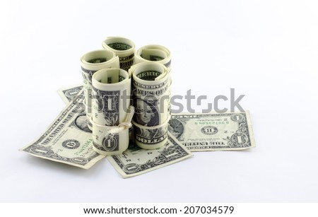 american dollar background - stock photo