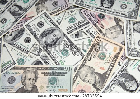 American dollar banknotes, abstract business money background