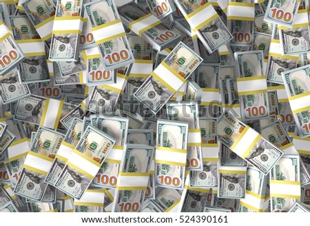 American dollar bills, whole screen