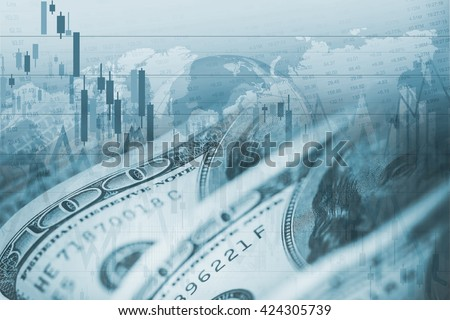 American Dollar Forex Currency Exchange. Financial Theme. - stock photo