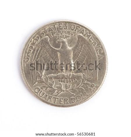 american dollar isolated - stock photo