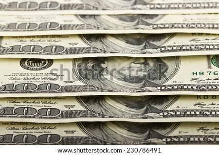 American dollars as a background