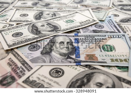 american dollars as background