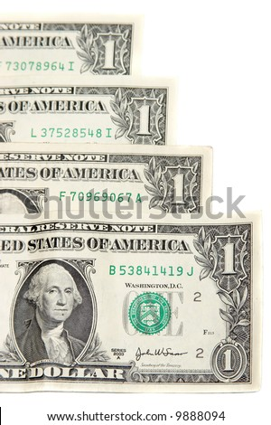 American dollars background - stock photo
