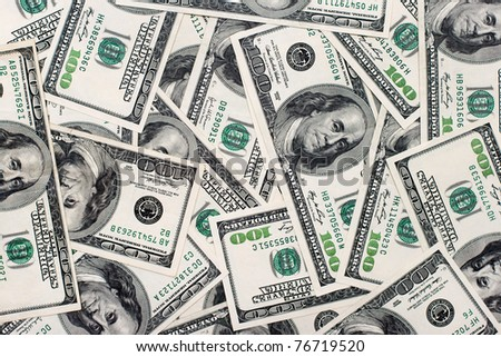 American dollars background / USD background texture